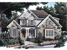 Eplans French Country House Plan - Dressed to Impress - 1879 Square Feet and 3 Bedrooms from Eplans - House Plan Code HWEPL09353