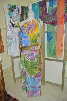 Karabian silk dress by Mantaray Seta