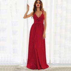Want' to like a product without buying it, check this one out Triangle Lace Red... only available on Costbuys http://www.costbuys.com/products/triangle-lace-red-maxi-party-dress-pleated-high-waist-women-slip-a-line-draped-dresses-sexy-deep-v-bow-back-dress?utm_campaign=social_autopilot&utm_source=pin&utm_medium=pin