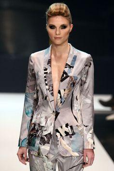 Michalsky AW 2013 patchwork blazer #MBFWB