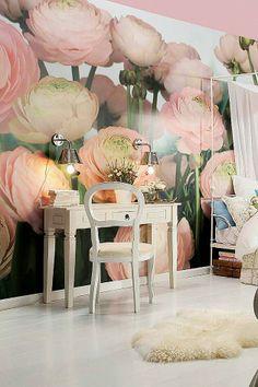 Brewster Home Fashions Komar Gentle Rose Wall Mural Interior Decorating, Interior Design, Decorating Ideas, Floral Wall, My New Room, Wall Murals, Wall Art, Tree Murals, Art Walls