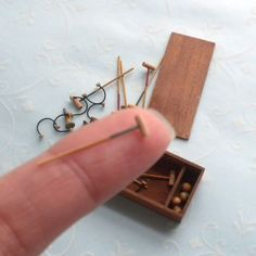 1:24 Scale Exquisite Tiny Croquet Set Game Wooden Box French Dollhouse Miniature   eBay