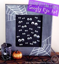 Glow in the Dark Googly Eye Art - a simple 10 minute craft the kids can help with!