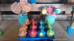 mini cupcakes decorados - tema dinossauro