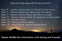 Upcoming skywatching events