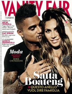 Vanity Fair n. 37 Italy - on the cover Melissa Satta (italian showgirl) and her boyfriend Boateng