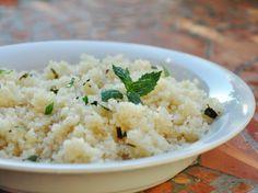 gluten free cous cous with lemon and mint by jamie oliver - cous cous senza glutine al limone e menta di jamie oliver