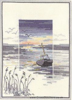 Low Tide - Sunsets - Cross Stitch Kit by Derwentwater Designs