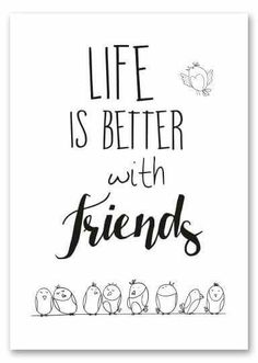 Handlettering Life is better with friends Hand Lettering Quotes, Calligraphy Quotes, Doodle Quotes, Words Quotes, Sayings, Bullet Journal Quotes, Drawing Quotes, Writing Styles, Friendship Quotes