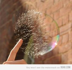 That awesome moment when a bubble is popping
