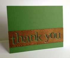 My husband requested a few thank you cards for some amazing friends of his who have been so kind to him.they're hunters! Simple Card Designs, Thanks Card, Cricut Cards, Thanksgiving Cards, Crafty Craft, Masculine Cards, Greeting Cards Handmade, Diy Cards, Homemade Cards
