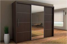 Inova Sliding Door Wardrobe Wenge Dark Brown 250cm - By Furniture Factor: Amazon.co.uk: Kitchen & Home