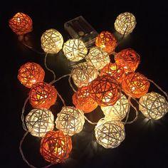 luminaria de barbante simples