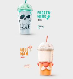 Shake my head - Milk Shakes Packaging Design - HeyDesign Magazine