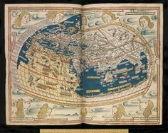 Ptolemy (fl. 146-c. 170) composed his Geographia in Alexandria, c. 160. He provided coordinates for 8000 places, tied into a grid of longitudes and latitudes. The transmission of Ptolemy in Europe began with the Latin translation by Jacopo d'Angelo (c.1360-1410) in 1409/10. The maps were revised by Nicolaus Germanus (fl. 1451-1456), a German Benedictine.  0o0