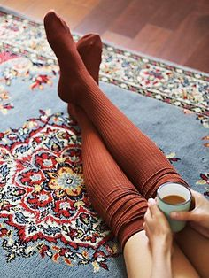 Lola Sheer Rib Thigh Hi | Sheer ribbed knit thigh high socks with an easy, stretchy fit.   *By Free People