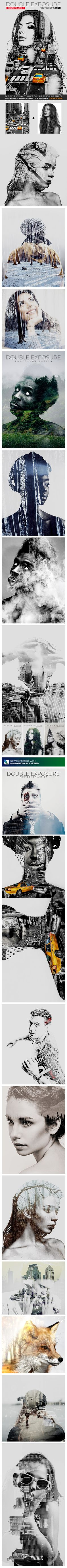 Double Exposure - Photoshop Action - Photo Effects Actions