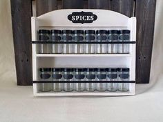 Spice rack white vintage farmhouse chic Ready to by CraftyMcDaniel