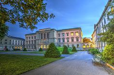 Photograph - University Building, Geneva, Switzerland, Hdr by Elena Duvernay Places In Switzerland, Geneva Switzerland, Geneva City, International Red Cross, Famous Places, Hdr, Art For Sale, Travel Photos, Switzerland