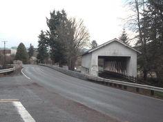 Along Oregon 228 at the Crawfordsville Bridge.
