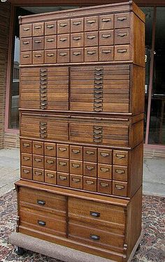 Stacking drawer sections, storage drawers, file cabinets, Wabash cabinets