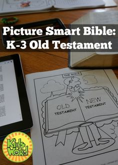 Picture Smart Bible: Old Testament. Tracing, coloring, & learning each book of the Bible. Raising Godly Children, Prayers For Children, Sunday School Lessons, Sunday School Crafts, Kids Church, Church Ideas, Bible Study For Kids, Bible Pictures, Catholic Religion