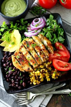 Alaskan Pollock Southwestern Salad- a flavorful tex-mex dish topped with an incredibly tasty avocado dressing that will knock your socks off!