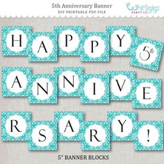 graphic regarding Happy Anniversary Banner Free Printable named 22 Suitable Anniversary banner visuals within 2016 Anniversary