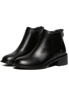 Shop Black Chunky Heel Round Toe PU Boots online. SheIn offers Black Chunky Heel Round Toe PU Boots & more to fit your fashionable needs.