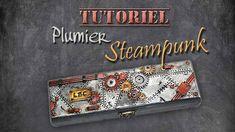 tuto fimo/polymère plumier steampunk