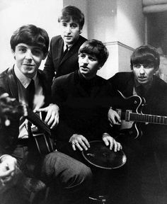 Paul's face. George on his guitar
