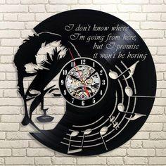 DAVID BOWIE Rock Hot Creative LP Vinyl Record Wall Clock Fans Collectible Gift