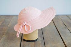 1950s Hat // Pink Summer Sun Hat // vintage 50s Marshall Fields on Etsy, $56.00