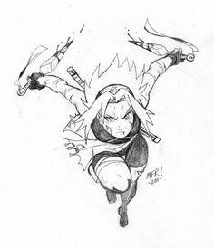 Quick Sketch - Sakura Haruno by the-pooper on DeviantArt