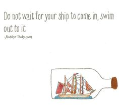 Jessica Turnbow- Ship in a bottle Typography Quote