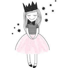 Such a sweet little girl, she should be fun to practice sketching and coloring. Art And Illustration, Drawing For Kids, Art For Kids, Doodle Art, Easy Drawings, Cute Cartoon, Cute Art, Painting & Drawing, Watercolor Art