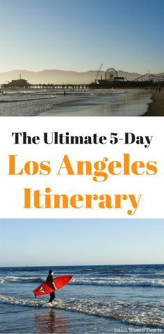 Need help creating an Los Angeles itinerary for 5 days and how to make the most of your time in this city? Here's a complete guide to how to make the most of your visit, including which sights to see, where to eat, and where to stay #losangeles #travel