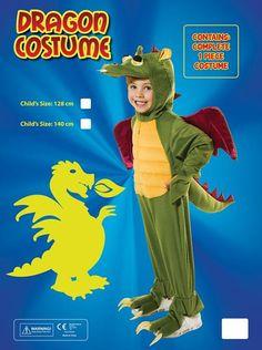 Dragon Costume 140cm Childrens Costumes - Unisex - 140cm. Dragon Fancy  Dress cadaaac95bca2