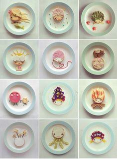 edible art by sandra van den broek Pendle Van den Broek - inspiratie bento Food Art For Kids, Cooking With Kids, Diy For Kids, Cute Food, Good Food, Yummy Food, Bento Recipes, Baby Food Recipes, Food Design