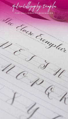 Free Printable Modern Calligraphy Alphabet | happy hands project