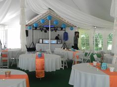 Ultimate Events white linens and chairs