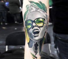 Realistic Woman Tattoo by Alexandr O Kharin | Tattoo No. 13452