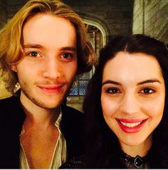 Toby Regbo and Adelaide Kane on the set of Reign!