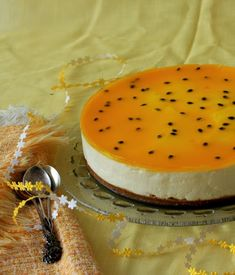 Fruit - a refreshing cheesecake that's perfect for a Spring lunch dessert! recipes for cheesecakes recipes desserts Passionfruit Cheesecake, Passionfruit Recipes, Just Desserts, Delicious Desserts, Yummy Food, Cheesecake Recipes, Dessert Recipes, Lime Cheesecake, Cupcake Cakes