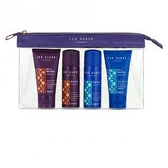 Ted Baker Mens Mini's gift Set Hair & Body Wash & Body Spray duo