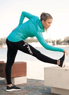 We love this winter workout outfit! Workout outfit - fitness - fitness fashion - natural - health - healthy - exercise - gym - run - petersfield.