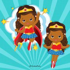 Mother Clipart, Mom Clipart, Baby Girl Clipart, Superhero Clipart, Baby Superhero, Superhero Classroom Theme, Grace Art, Twins 1st Birthdays, Hero Girl