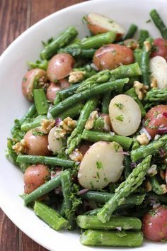 Delicious & Healthy Of July Potato Salad Recipes by GreenBlender, green beans Indian Food Recipes, Vegan Recipes, Cooking Recipes, Potato Recipes, Fish Recipes, Summer Salad Recipes, Summer Salads, Healthy Cooking, Healthy Eating