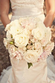 soft blush romantic wedding bridal bouquet innocence girly garden roses by fionnafloral1, via Flickr