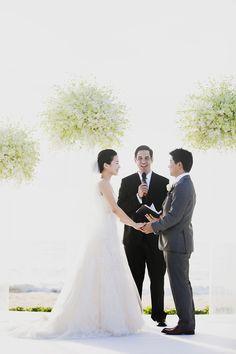 Wedding #Ceremony Flowers - gorgeous! See the wedding on #SMP: http://www.stylemepretty.com/destination-weddings/2013/12/13/natai-beach-thailand-destination-wedding/  Alison Mayfield Photography Studio